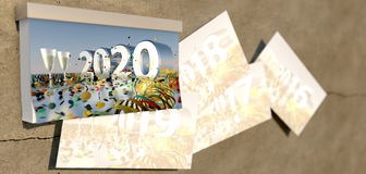 2020 New Years Eve cover sheet Stock Photography
