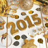 New Years Eve 2015 decor on wood Stock Photos