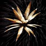 New years eve fireworks. Exploding in the sky at night Stock Photography