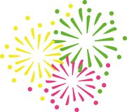 New years eve fireworks. Vector Royalty Free Stock Photography
