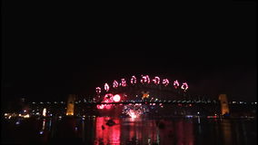 New Years Eve fireworks on Sydney Harbour Bridge at 60fps-3 Royalty Free Stock Images