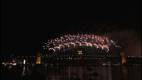 New Years Eve fireworks on Sydney Harbour Bridge at 60fps-6 Stock Photos