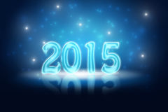New Years Eve 2015. Glossy holiday background for New Years Eve 2015 with snowflakes royalty free illustration