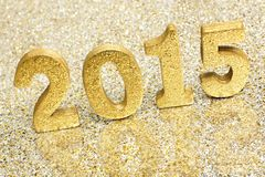New Years Eve 2015 gold numbers Stock Photography