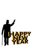 New Years eve graphic royalty free stock photography