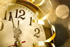 New years eve. Happy new years eve,closeup on clock face Stock Photography