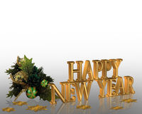 New Years eve invitation Illustration Stock Photos