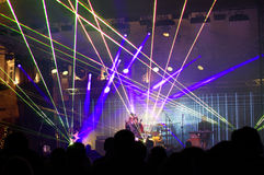 New Years eve live concert laser show Royalty Free Stock Image