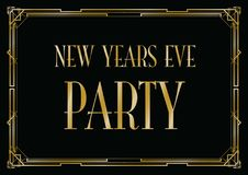 New years eve party background. A new years eve party background vector illustration