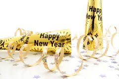 New Years Eve party noisemakers Stock Images