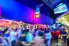 New Years Eve in Pattaya. Night street scene on New Years Eve, 31st of December 2014, in South Pattaya, Thailand Stock Photo