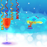New Years eve text place Stock Image