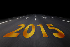 New years eve 2015. Written on asphalt vector illustration