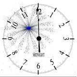 New Years Firework. An old English office type clock face over a new year firework Royalty Free Stock Photography