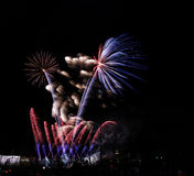 New years fireworks. In Kouvola, Finland Royalty Free Stock Photography