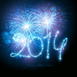 New Years fireworks Stock Photography