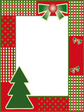 New years frame. With christmas tree royalty free illustration