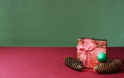 New years gift with pine cones Stock Photography