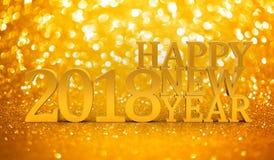 2018 New years glitter background Stock Photo