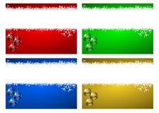 New years greeting card. Christmas background with snowflakes and christmas balls Stock Photo