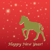 New Years greeting card Royalty Free Stock Image