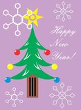 New Years greeting card. A simple and minimalistic digital greeting card which can be sent to someone via email or printed.n Royalty Free Stock Photography