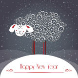 New years greeting card. Symbol of 2015 year. Vector symbol element for New Years design Royalty Free Illustration