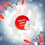 New years greeting illustration Stock Photos