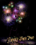New Years Illustration background or invitation Royalty Free Stock Images