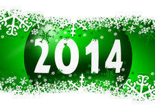 2014 new years illustration. With christmas ball Stock Images