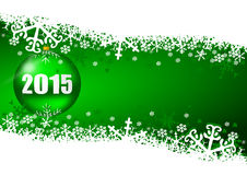 2015 new years illustration. With christmas ball vector illustration