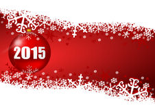 2015 new years illustration. With christmas ball Royalty Free Stock Photo