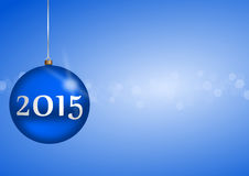 2015 new years illustration. With christmas ball royalty free illustration