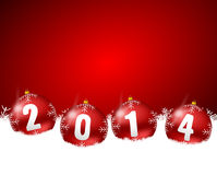 2014 new years illustration. With christmas balls Stock Photography