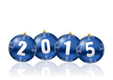 2015 new years illustration. With christmas balls Stock Photography