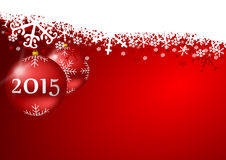 2015 new years illustration. With christmas balls royalty free illustration