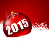 2015 new years illustration. With christmas balls vector illustration