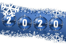 2020 new years illustration. With christmas balls vector illustration