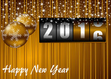 2016 new years illustration Royalty Free Stock Photo