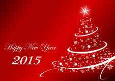 2015 new years illustration. With christmas tree royalty free illustration