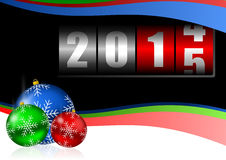 2015 new years illustration with counter. 2015 new years illustration with christmas balls Stock Illustration