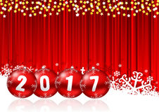 2017 new years illustration Stock Photos