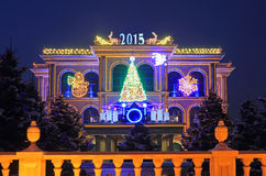 New years light registration of the buildingя Stock Images