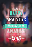 New years message against blurred pretty friends vector Stock Photo