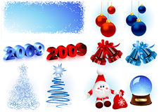 New_Years_objects Royalty Free Stock Images