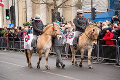 New years parade. LONDON - JANUARY 1ST: New years day parade  on January the 1st 2015 in London, England, UK. The new years parade is an annual event Stock Images