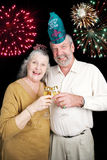 New Years Party with Fireworks Royalty Free Stock Photo