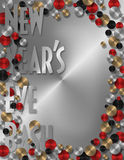 New Years Party Invitation or Menu Royalty Free Stock Images