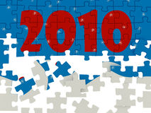 New years puzzle Royalty Free Stock Photos