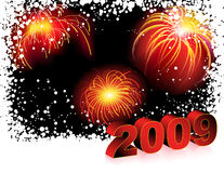 New_Years_red_background Stock Images